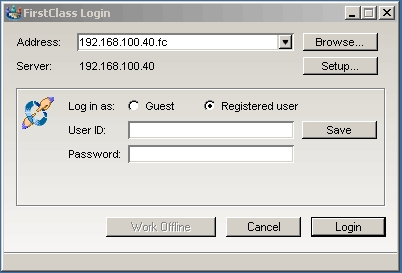 FirstClass Groupware Screenshot Login Installation Linux