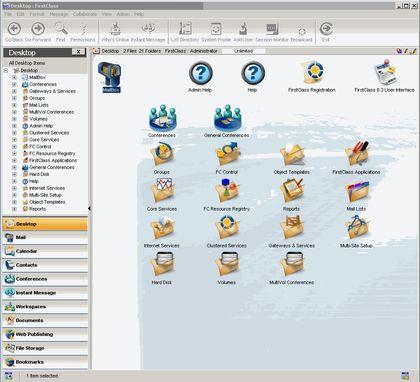 FirstClass Groupware Screenshot Admin Desktop Installation Linux